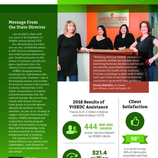 Our 2018 Annual Report – VtSBDC