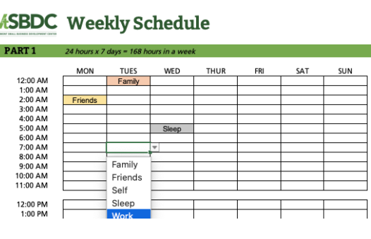Finding Balance with the Weekly Schedule